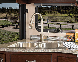 DOUBLE-BOWL STAINLESS-STEEL SINK